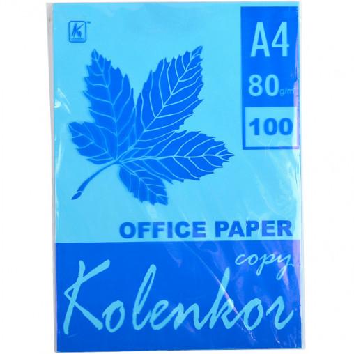 Бумага для ксерокса, А4 100 листов 80г/м² насыщенная TURQUOISE 220