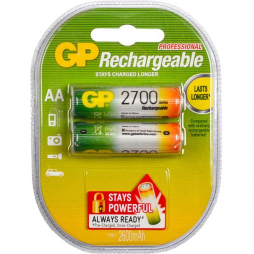 Аккумуляторы GP АА 2700 перезаряжаемые GP-077746