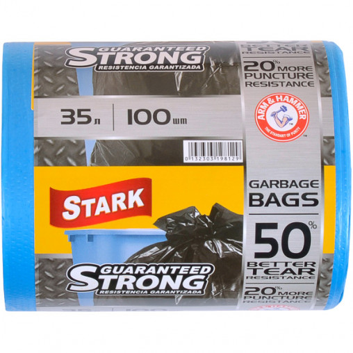 Пакет для мусора сверхпрочный 48х58 35л 100 штук TM STARK