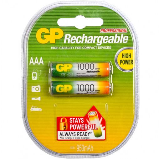 Аккумуляторы GP ААА 1000 перезаряжаемые GP-079061