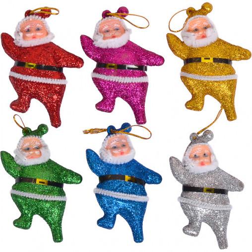 """Набор-украшение """"Дед Мороз"""" цветной 8 см 6шт.12-135/17F055"""