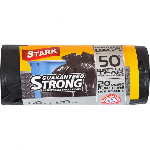 Пакет для мусора сверхпрочный 60х80 60л 20 шт.STARK 5004