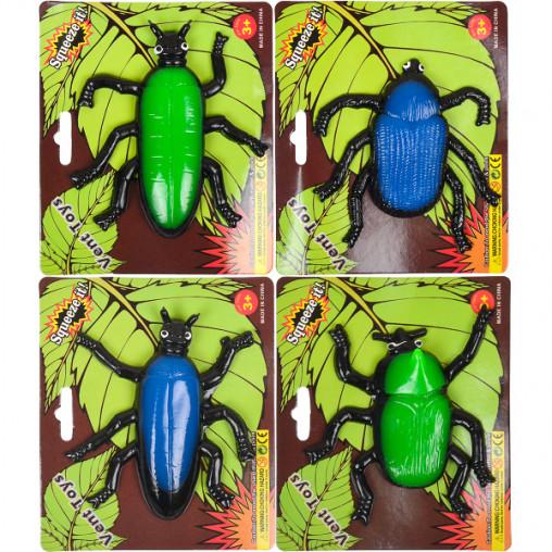 """Игрушка """"Лизун"""" жуки, пауки цветные"""