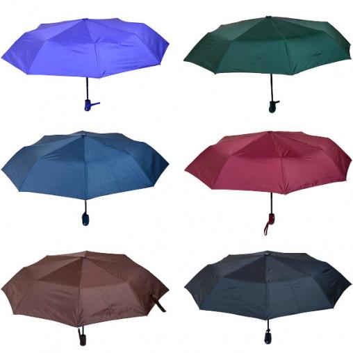 Зонтик складной автомат однотонный Х2114/80