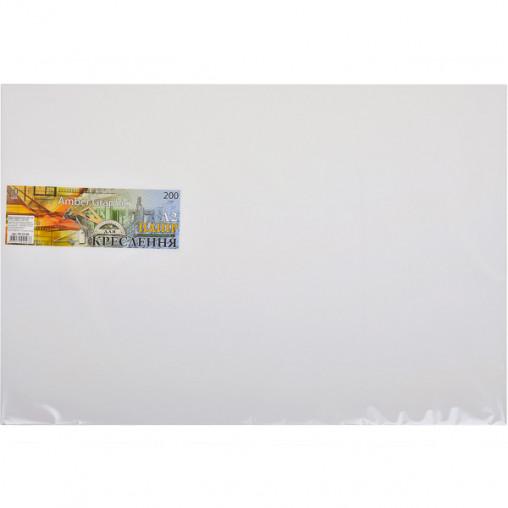 """Бумага для черчения А2 AmberGraphic """"Графика"""" 10 листов, 200г/м², в п/п пакете ПК2310Е"""