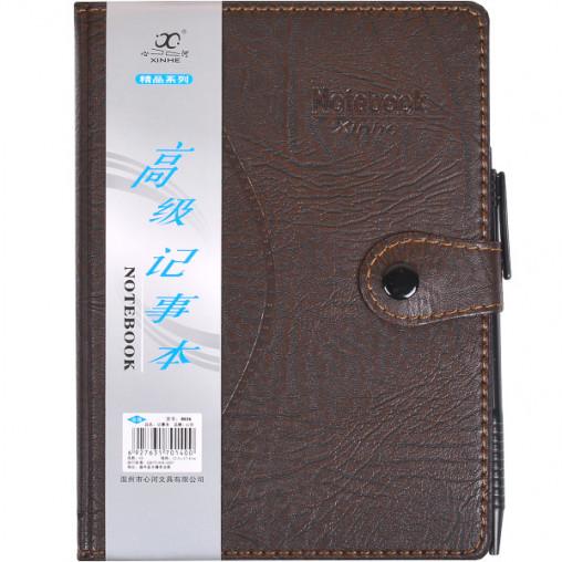 Блокнот 18*13см с ручкой в обложке кож/зам, клетка 8036