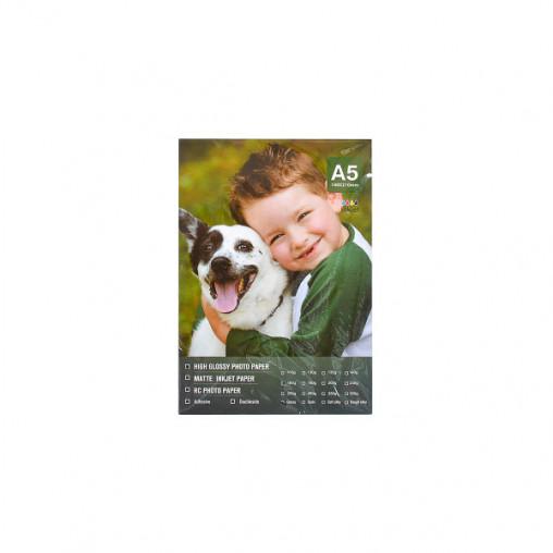 Фотобумага А5 пл. 160г/м², 100 листов, глянцевая FBA5160/100/8