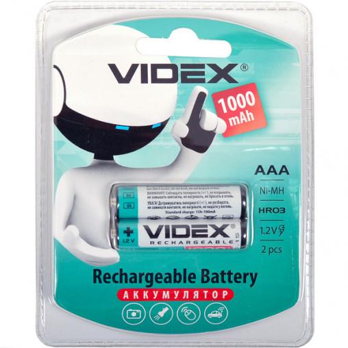 Аккумуляторы VIDEX ААА 1000 перезаряжаемые V-291789