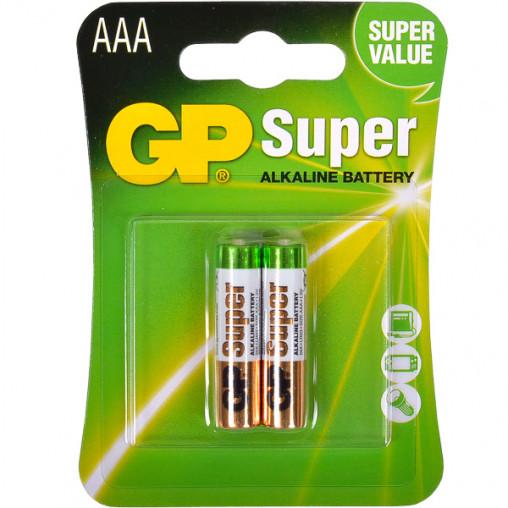 Батарейка GP 24A-U2 щелочная LR03, AAA по 2 шт. Alkaline Super GP-000041