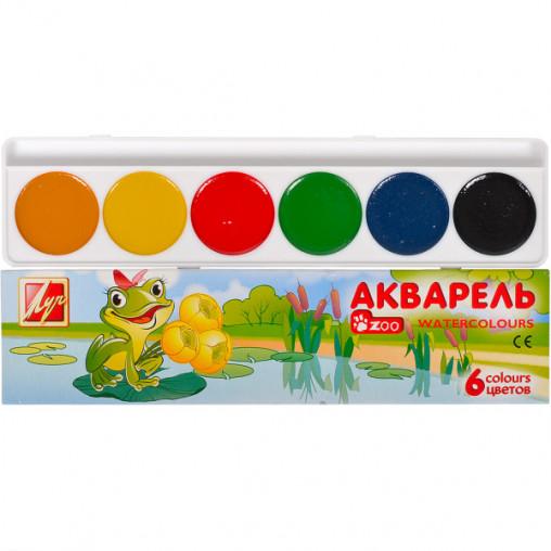 """Акварель Зоо """"Мини"""" 6 цветов картон """"Луч"""" 18,5*4,5см 1246-08/38015"""