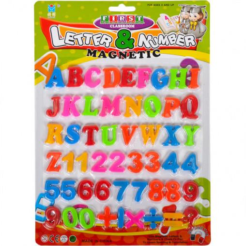 Английские буквы, цифры и знаки на магните 8305, 20,5*28,5см