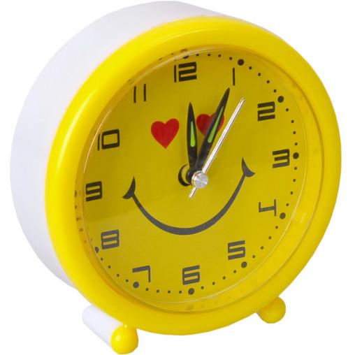 """Настольные часы - будильник 8897/Х2-20 """"Смайл круг"""" 10,5*4см"""