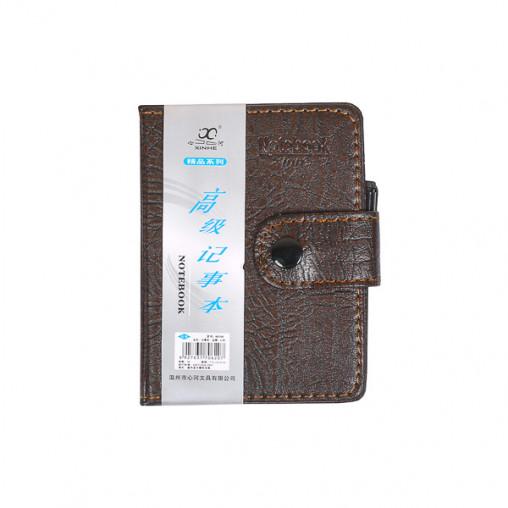 Блокнот 11*8см с ручкой в обложке кож/зам, клетка 80100
