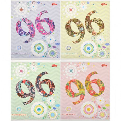 Тетрадь цветная  96 листов, линия  2435л