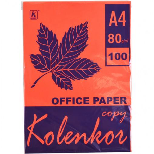Бумага для ксерокса, А4 100 листов 80г/м² насыщенная RED 250