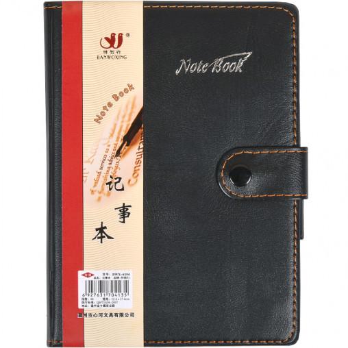 Блокнот 18*13см с ручкой в обложке кож/зам, клетка 6104