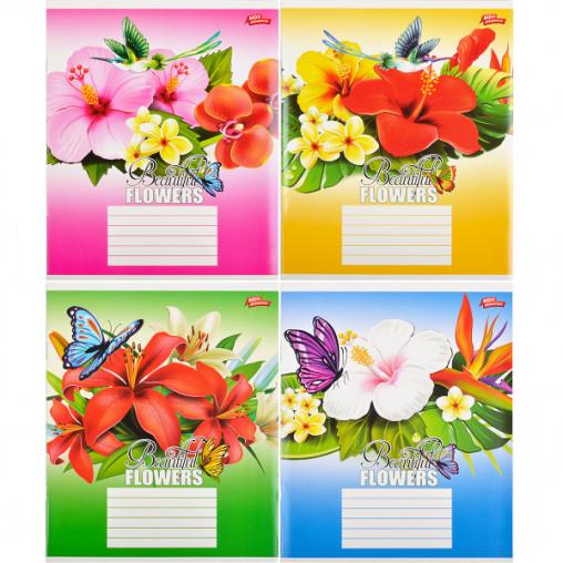 Тетрадь цветная 36 листов, линия 2121л
