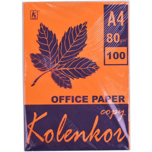 Бумага для ксерокса, А4 100 листов 80г/м² насыщенная SAFFRON 240