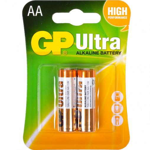 Батарейка GP 15AUHM-2UE2 щелочная LR6 U. AA Alkaline Ultra GP-027581