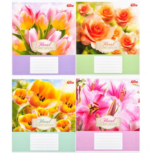Тетрадь цветная 12 листов, линия 2811л