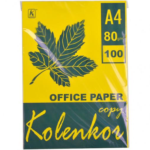 Бумага для ксерокса, А4 100 листов 80г/м² насыщенная LEMON 210