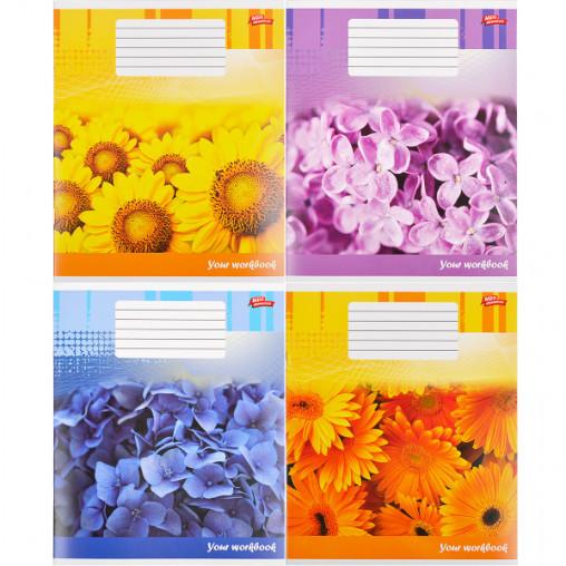 Тетрадь цветная 12 листов, линия 2381л