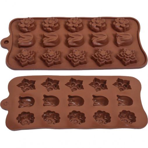 Форма силиконовая для конфет, льда Тюльпан 21*10,5*1,3 см X3-125