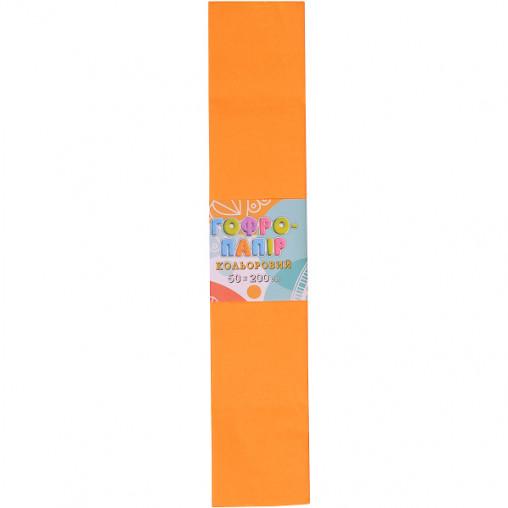 Бумага гофрированная СР-20-18 17г/м2 20%, 50*200см, 10шт./уп. свет оранжевый КП033/5