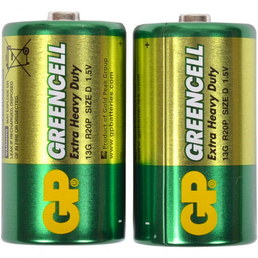 Батарейка GP 13G-S2 солевая R20, D GP-000072