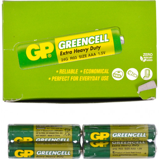 Батарейка GP 24G-S2 солевая R03, AAA GP-001185/000454