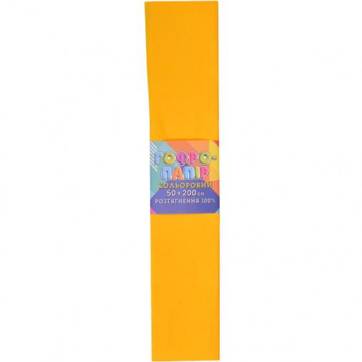 Бумага гофрированная темно-желтая CP-100-46 20г/м2 100%, 50*200см, 10шт./уп. КП034/12