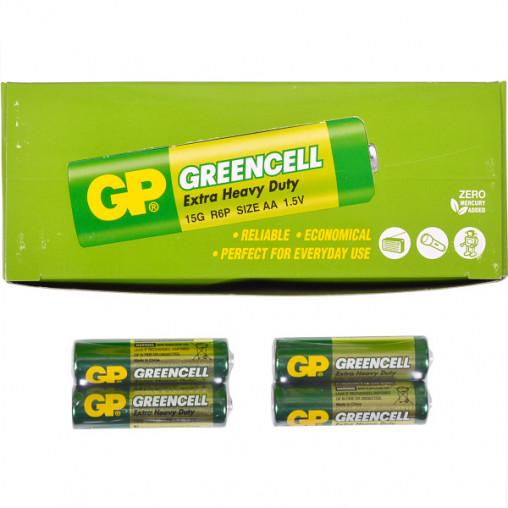 Батарейка GP 15G-S2 солевая R6P, AA GP-042409/006425