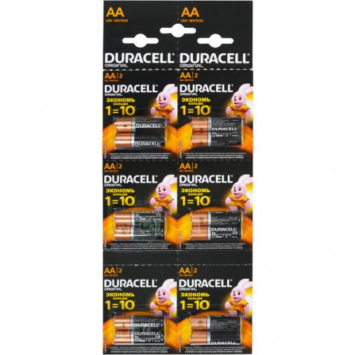 Батарейка Duracell LR-6 АА по 12 штук на блистере D-004290