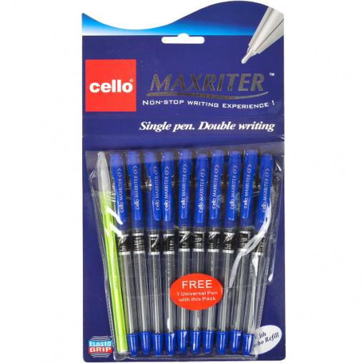 Ручка масляная MAXRITER 727+1 Cello синяя