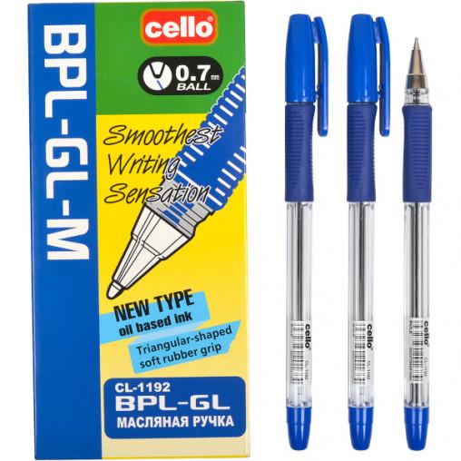Ручка масляная CELLO 0,7 мм синяя BPL-GL-M-1192