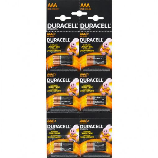 Батарейка Duracell LR-03 ААА по 12 штук на блистере 5008221/D-004313