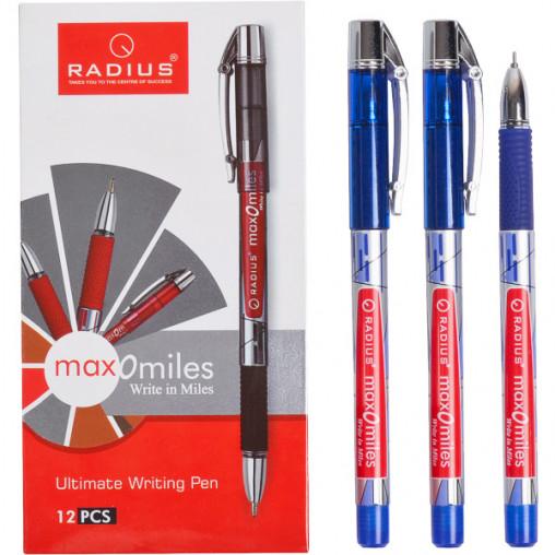 """Ручка """"Max-O-Miles"""" RADIUS принт 12 штук, синяя 779290"""