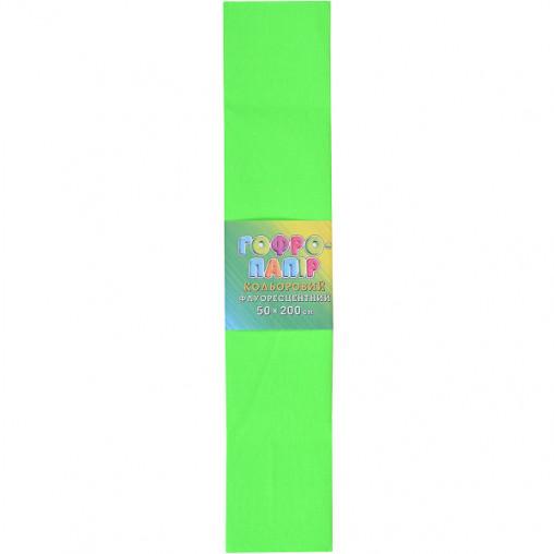Бумага гофрированная зеленая флуоресц. CPF-80-93 17г/м2 20%, 50*200см, 10шт./уп. КП036/4