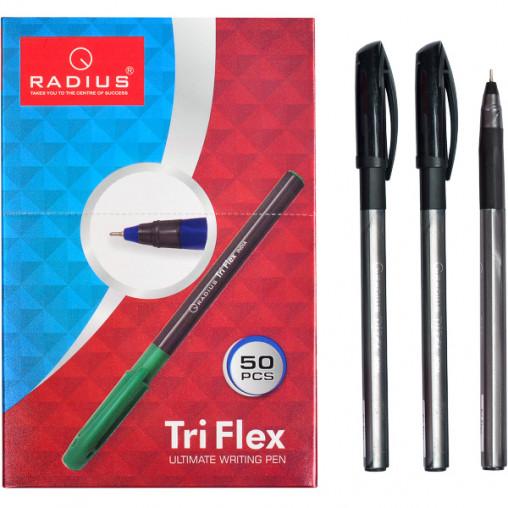"""Ручка """"TriFlex"""" RADIUS тонированная 50 штук, чорна 779306"""