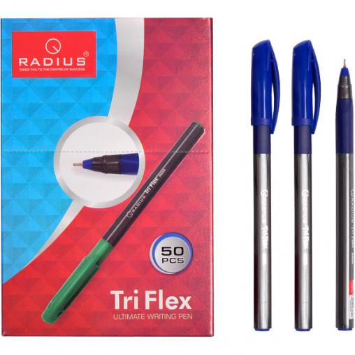 """Ручка """"TriFlex"""" RADIUS тонированная 50 штук, синяя 779306"""