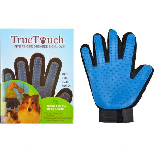 Перчатка для вычесывания шерсти животным TRUE TOUCH X1-174