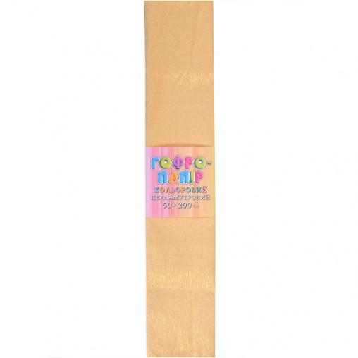 Бумага гофрированная желтая перламутр CPP-80-103 17г/м2 20%, 50*200см, 10шт./уп. КП037/2
