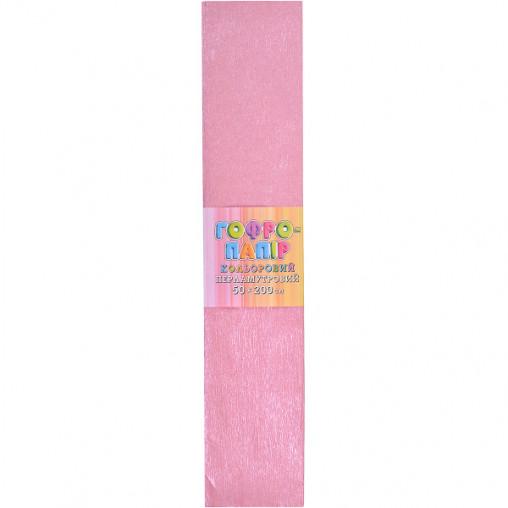 Бумага гофрированная розовая перламутр CPP-80-104 17г/м2 20%, 50*200см, 10шт./уп. КП037/7