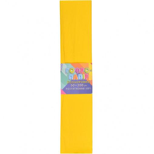 Бумага гофрированная желтая CP-100-706 20г/м2 100%, 50*200см, 10шт./уп. КП034/6