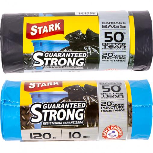 Пакет для мусора прочный 70х110 120л 10 штук TM STARK 5008