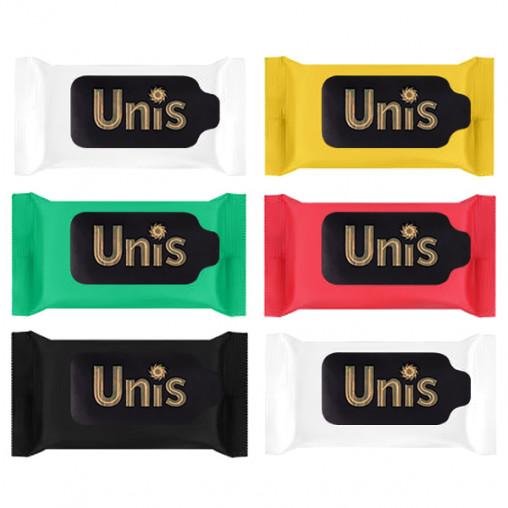 """Салф. вл. антибактериальные """"UNIS"""" Perfume 15 шт. """"mix"""""""