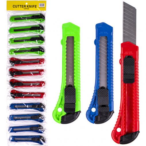 Нож канцелярский D801№87 блистер, 15*3см лезвие 18мм