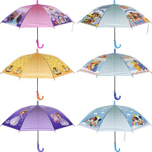 Зонтик - трость детский 3D мультики Х2108/77