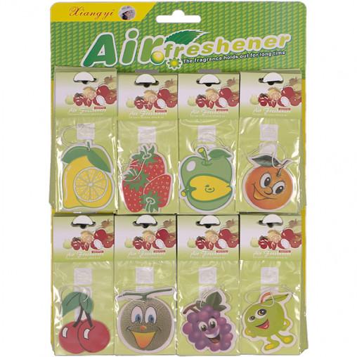 Освежитель воздуха бумажный, фрукты 19*8 см Х2-99