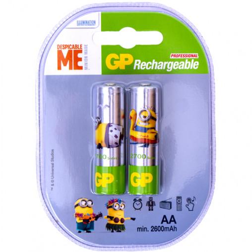Аккумуляторы GP АА 2700 перезаряжаемые Minion GP-077746